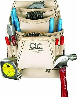 CLC Custom Leathercraft 179354 Carpenter's Nail and Tool Bag Reversed Top Grain, 10 Pocket