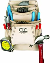 CLC Custom Leathercraft 179354 Carpenter's Nail and Tool Bag Reversed Top Grain, 10 Pocket