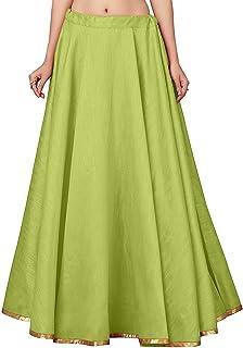STUDIO Shringaar Women's Full Flare Double Ghera Skirt Lehenga (Free Size)
