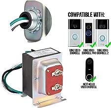 Wasserstein 16V 30VA Doorbell Transformer - Power Supply Compatible with Ring Video Doorbell 1/Doorbell 2/Doorbell Pro, and Nest Hello Doorbell