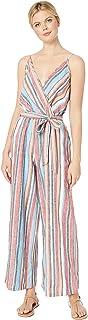 [ECI] レディース ジャンプスーツ Linen Striped Jumpsuit with Self Tie [並行輸入品]