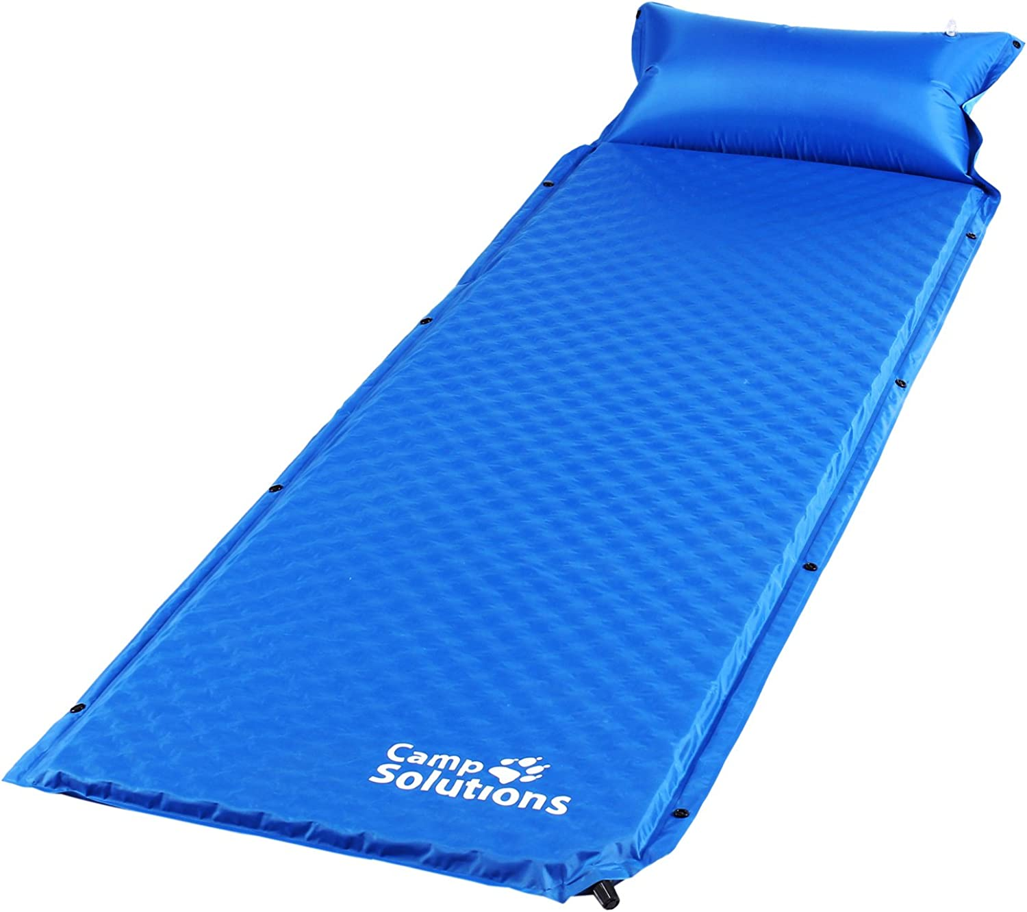 Camp Solutions Sleeping Pad Camping Mattress SelfInflation Sleeping Mats for Family, Attached Pillow