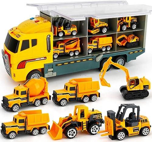 entrega de rayos Juego de juguete de de de camión de vehículo de camión de construcción fundido a troquel Vehículos en camión transportador, juguete de bulldozer, vehículo de ingeniería de camión de construcción, juguete de  primera reputación de los clientes primero