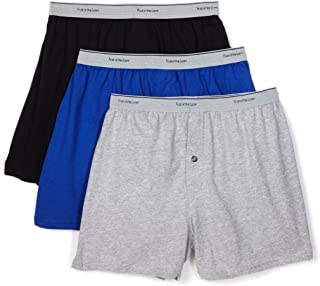 Fruit of the Loom Men's 3-Pack Knit Boxer Shorts Boxers Cotton Underwear 3XL