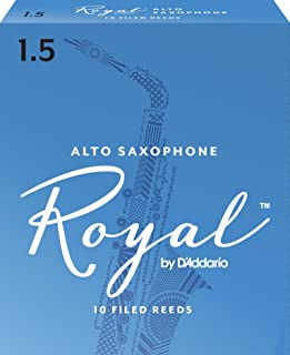 Royal Alto Sax Reeds, Strength 1.5, 10-pack