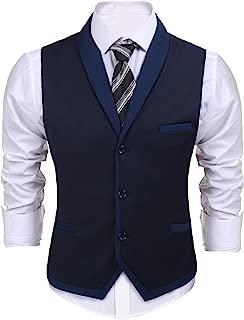 Men's Suit Vest Slim Fit Business Wedding Vests Dress Waistcoat