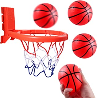 Hely Cancy Bathtub Basketball Hoop for Kids with Strong Suction & Band 2 in 1, Bigger Basketball Bath Toy for Toddler