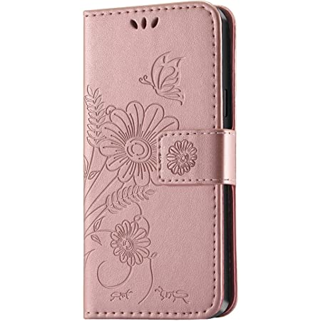 Kazineer Hülle Für Samsung Galaxy S9 Handyhülle Leder Tasche Flip Case Kartenfach Faltbarer Ständer Abnehmbarer Handschlaufe Schutzhülle Kompatibel Mit Samsung Galaxy S9 Pink Gold Garten