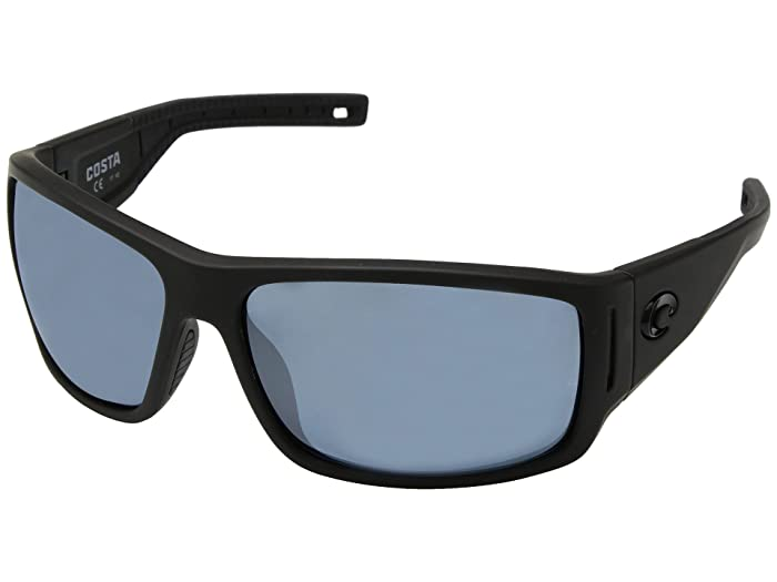 Costa  Cape (Matte Black Ultra Frame/Gray/Silver Mirror 580P) Sport Sunglasses