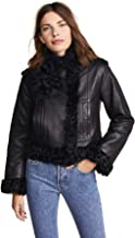 Vince Women's Leather Shearling Moto Jacket