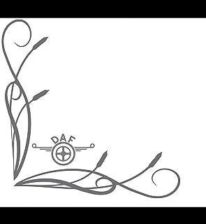 myrockshirt DAFAufkleber Seitenscheibe Scheibe 27x27cm LKW Truck Trucker Aufkleber Anhänger Sticker `+ Bonus Testaufkleber Estrellina Glückstern ®, gedruckte Montageanleitung, Versa