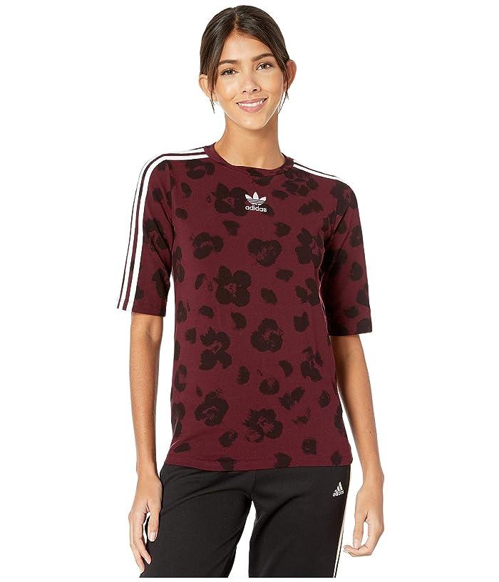 adidas Originals  Originals Tee (Maroon/Black) Womens T Shirt