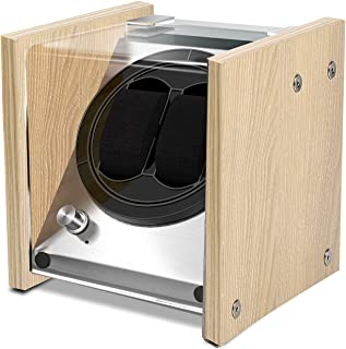 Watch Winder Birch Wooden Veneer for Couple Size Automatic Watches, Limited Edition