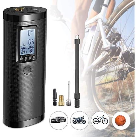 Bicicletta e Palla Auto Banca di Potere Mini Compressore per Moto Compressore Portatile Pompa elettrica Compressore Aria con LCD Display Air Pump 1000MAH 120PSI
