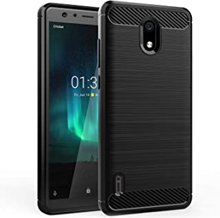 Dzxouui Compatible for Nokia 3.1C Case,Nokia 3.1A Case,Protective Phone Cover Shockproof Soft TPU Cases for Nokia 3.1C/3.1A(DL-Black)