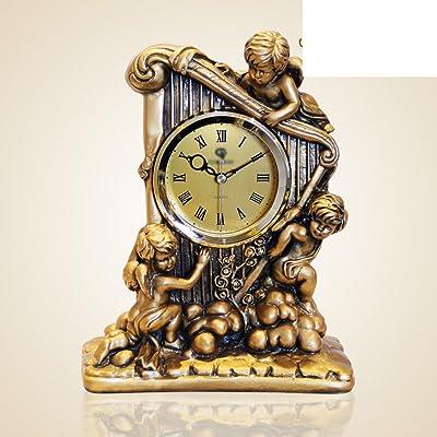 Reloj europeo Ornamentos del salón de la moda relojes decorativos creativos reloj antiguo en el dormitorio