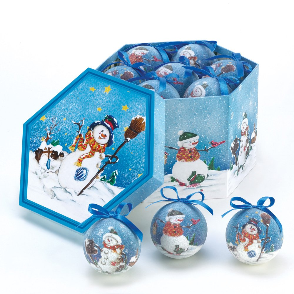 Image of Festive Snowman Ornament Box Set