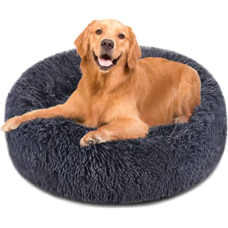 Small Rose Pink Plush Removable Cover Premium Calming Nest Bed The Dog/'s Bed Sound Sleep Original Donut Dog Bed