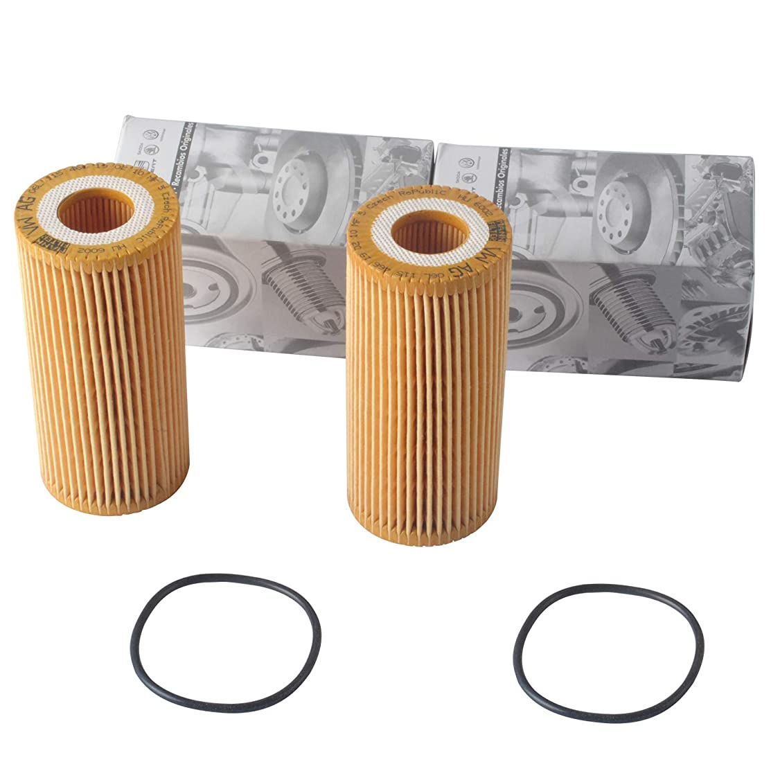 06L-115-562 HU6002z Engine Oil Filter by Podoy Compatible with VW Passat Cabriolet Golf R Beetle 1.8T VW Golf 1.8 TSI 2016 VW GTI 2014 1.8T TSI Jetta Audi A3 06K 115 562