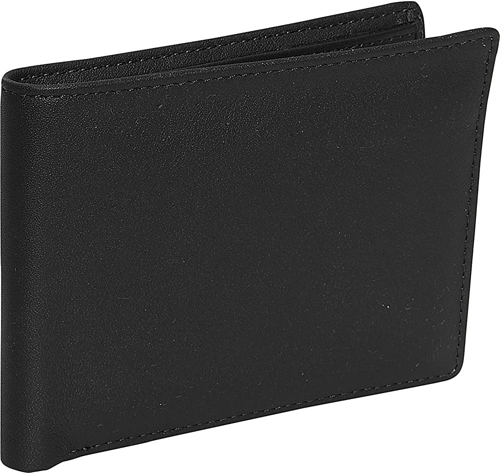 Royce Leather Men's Id Flat Fold Wallet (Black)