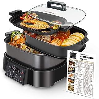 Taylor Swoden Arthur - Mijoteuse, grill et cuisson vapeur 3 en 1. Programmable 24h. Maintien au chaud 10h. Programmes préd...