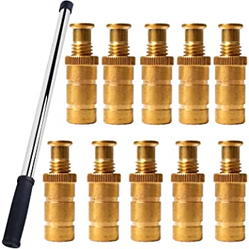 10 Pack 23.6 Inch Extra Long Safety Installation and Removal Rod Tool with 5//8 Brass Anchor Pool Cover Anchor Tool by Podoy Fits 3//4 Hole