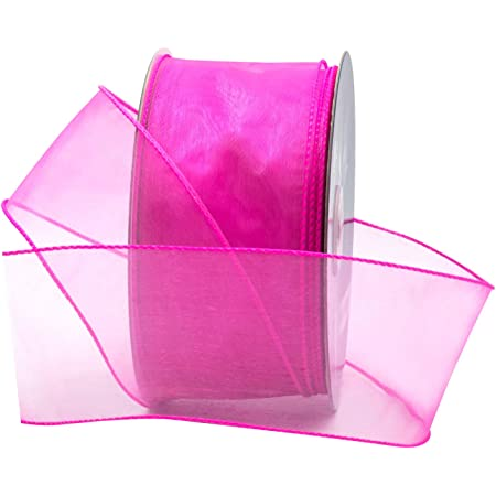 "Organza Ribbon 3//8/"" Wide 25 Yd Yard Roll Satin Edging Solid kc Light Pink"