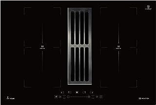 KKT KOLBE Plaque de cuisson à induction avec hotte aspirante de table / 77 cm/autonome / 7 kW / 9 niveaux / 4 zones / 2 zo...