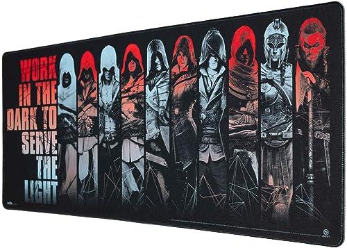 Erik® - Tapis de Souris XXL Assassin's Creed - Tapis de Souris Gamer - Mouse pad 80 x 35 cm