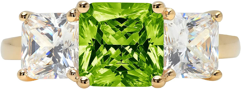 Clara Pucci 3.35 Washington Mall Easy-to-use Square Emerald Baguette stone A cut Solitaire 3