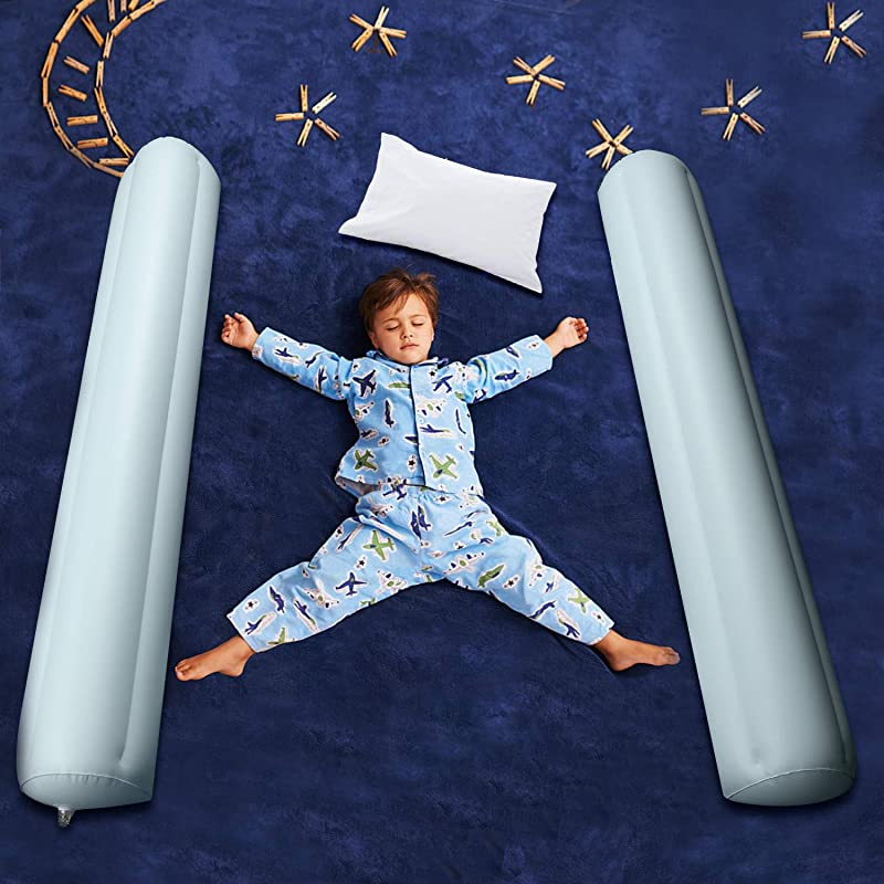 Inflatable Bed Rails For Toddlers Carttiya Travel Toddler Bed Rail Bumpers Water Proof Leak Proof Non Slip Portable Toddler Bed Rail Guard 49 Inches Long Double Rails For All Bed Sizes