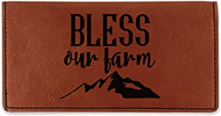 Farm House Leatherette Checkbook Holder - Double Sided (Personalized)