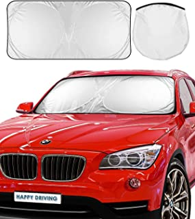 Windshield Sun Shade Large 74.8 x 35.4 inches - Front Car Window Sunshades Cover Keeps Your Car Cool, Foldable Vehicles Windshield Sunscreen Cover, Jumbo Sun Visor UV Protector for Car Truck SUVs