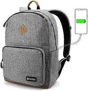 tomtoc 22L Mochila Escolar Universidad Clásico, Bolsa para Ordenador Resistente al Agua, Backpack de Viaje con 15,6