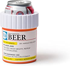 BigMouth Inc Prescription Pill Bottle Drink Kooler, Keeps Drinks Cold, Foam Drink Holder, Perfect Funny Gag Gift