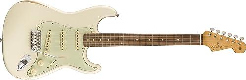 Road Worn '60s Stratocaster Pau Ferro Fretboard Olympic blanc