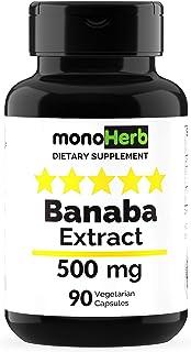 Banaba Extract 500 mg per Capsule - 90 Vegetarian Capsules - 2% Corosolic Acid
