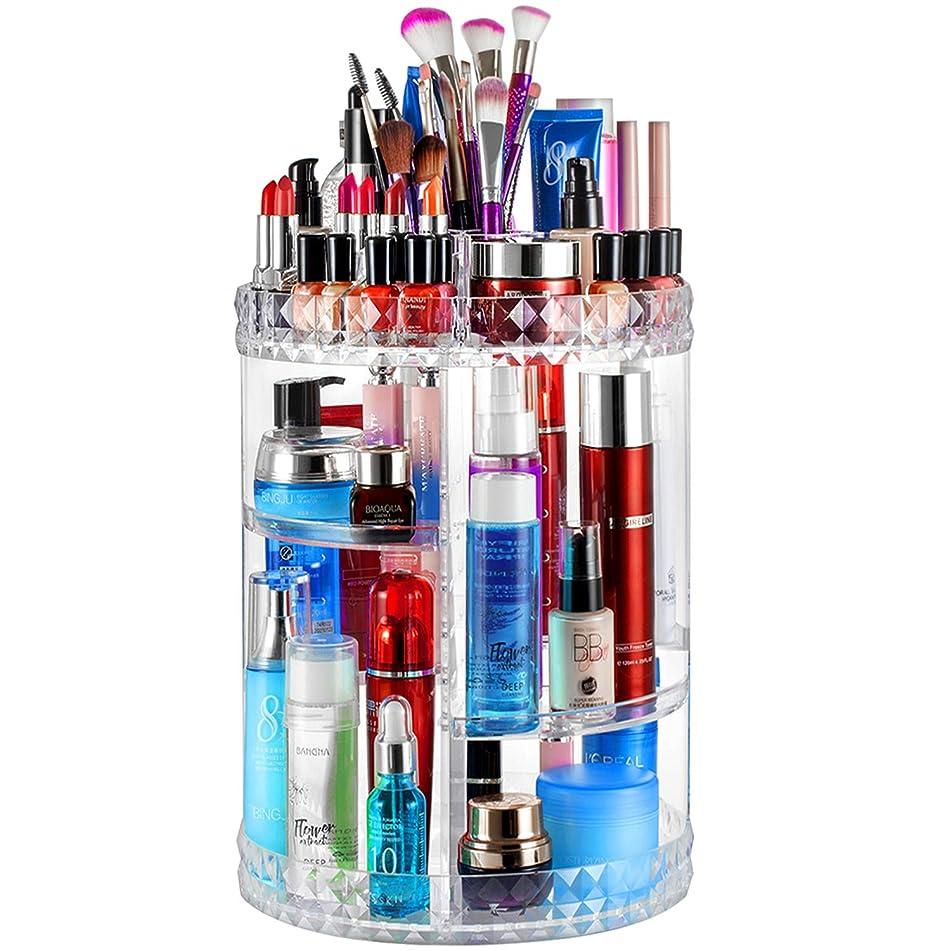Bairuifu 360 Degree Rotating Makeup Organizer,Large Capacity&Adjustable Multi-Function Cosmetic Storage Box,Fits Makeup Brushes,Eyeliner,Lipsticks Nail Polish,Toner,Creams and More