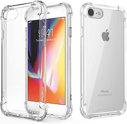 MoKo Funda para iPhone 8/7 - Avanzado Choque-Absorbente Rasguño-Resistente Cubierta con Transparente Duro PC Placa Trasera y Flexible TPU Parachoques de Gel para Apple iPhone 8/7, Cristal Claro
