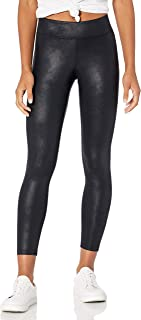 Women's Nia Leather Look Coated Stretch Nylon Legging