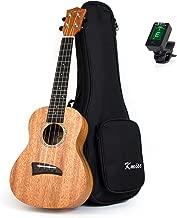 Kmise Solid Mahogany Top Concert Ukulele 23 inch Hawaii Guitar Rosewood Bridge Matt W/Bag and JOYO Tuner