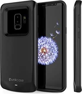 Galaxy S9 Plus Battery Case, PunkJuice 5000mAH Fast Charging Power Bank W/Screen Protector | Integrated USB Port | IntelSwitch | Slim, Secure and Reliable | Suitable for Samsung Galaxy S9+ [Black]