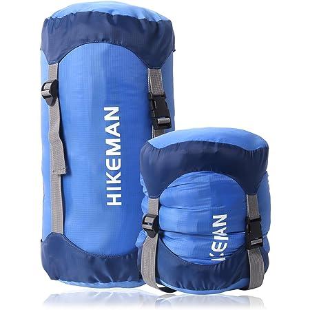 コンプレッションバッグ 寝袋用 圧縮袋 軽量 圧縮バッグ 収納袋 防水 キャンプ アウトドア 調整可能 耐摩耗 丈夫 コンプレッションサック スタッフバッグ 寝袋用スタッフサック シュラフ収納袋