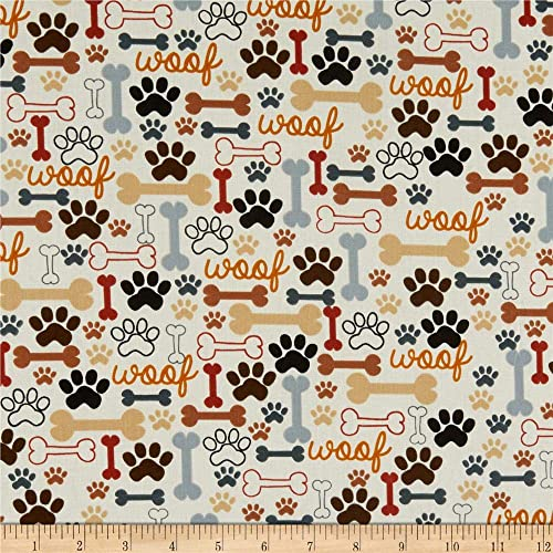 Cotton Fabric With Dog Print Amazon Com