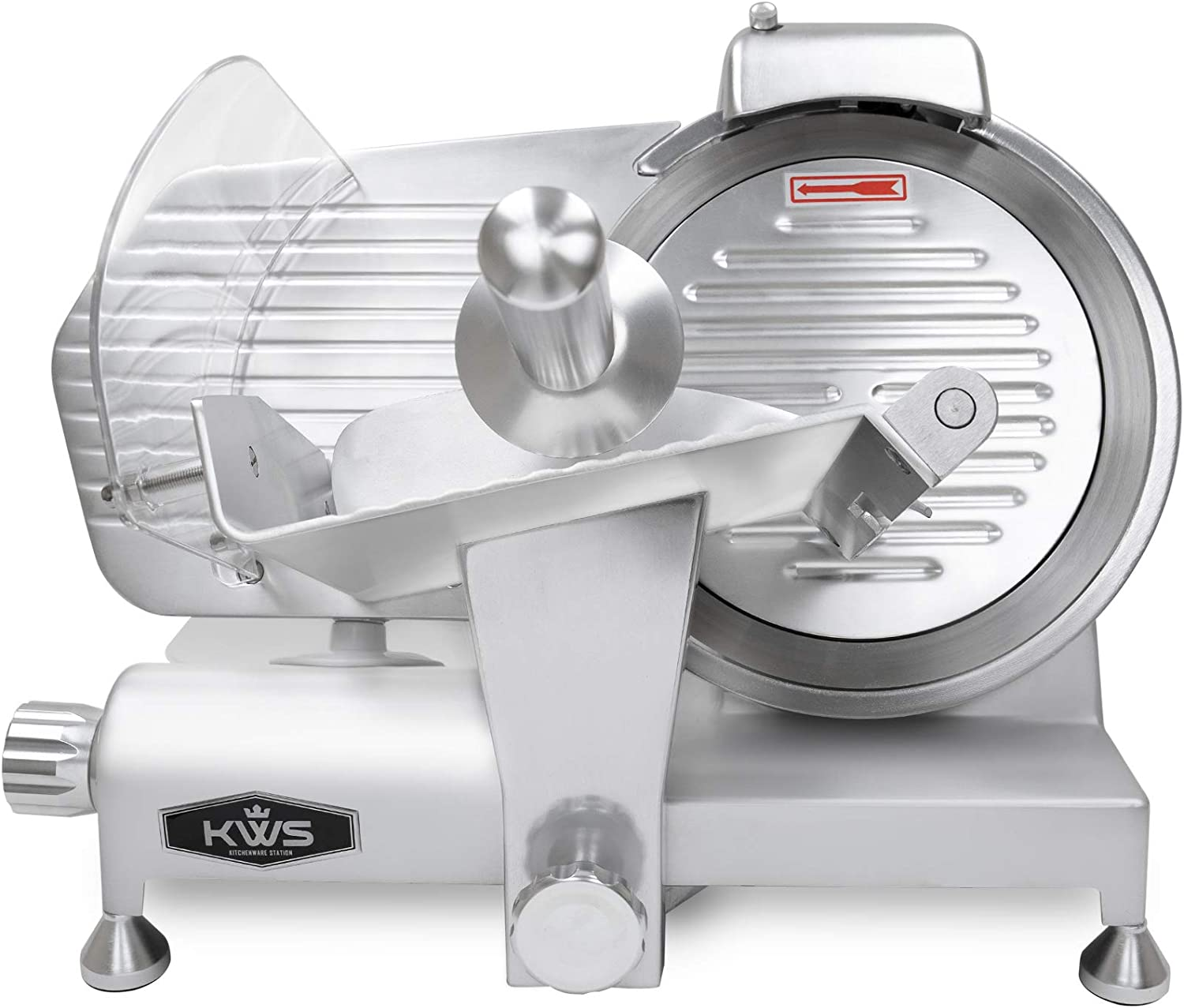KWS MS-10ES All Metal 320W Electric 304 10-Inch Meat Slicer with Max 48% OFF Denver Mall