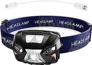 DeliToo LEDヘッドライト 充電式 小型軽量 センサー機能 防水 キャンプ 非常時用