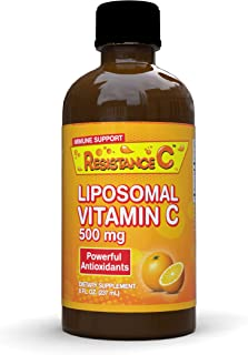 Resistance C Liposomal Vitamin C Liquid 500 mg, High Absorption Vitamin C, Ascorbic Acid, Supports Immune System, Powerful...