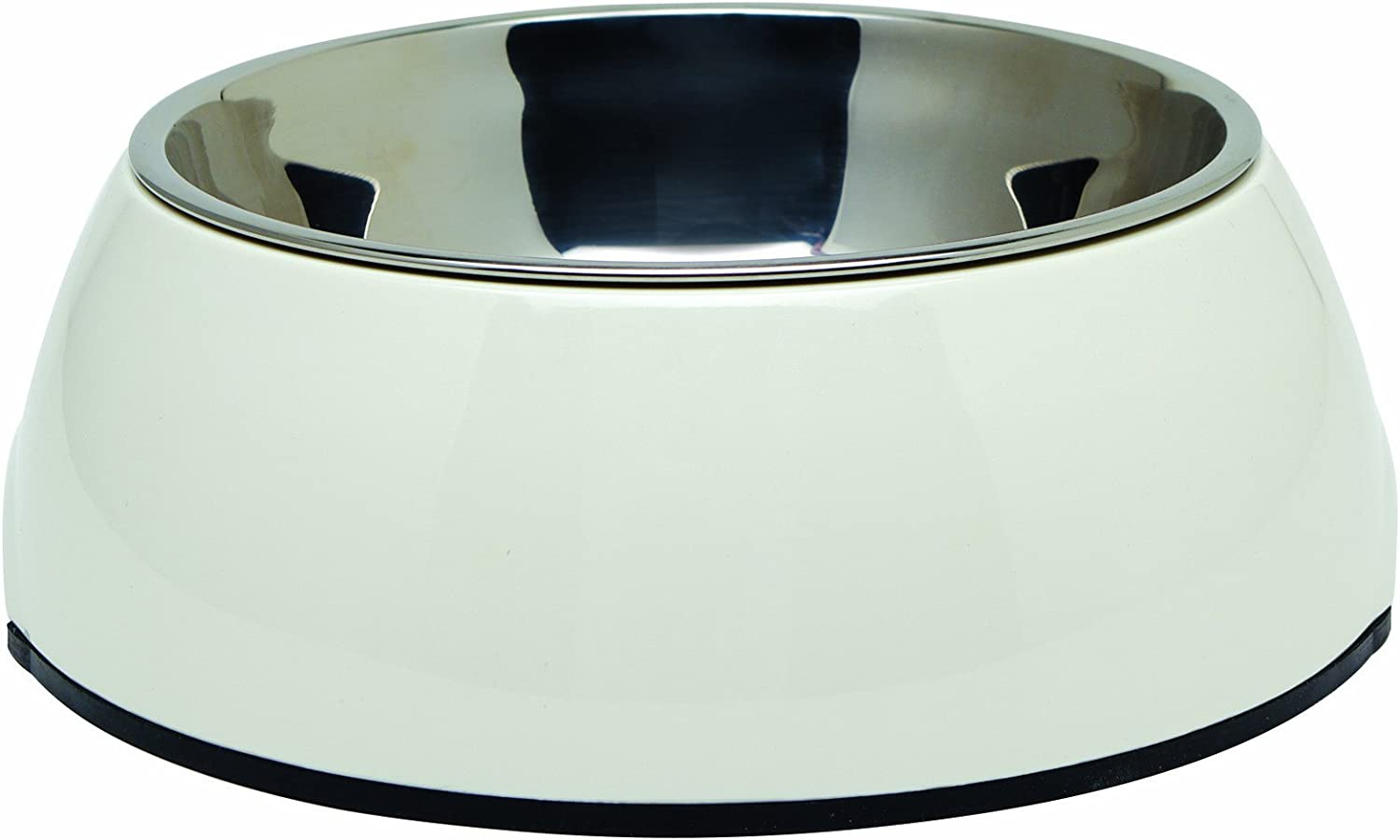 Dogit 2in1 Durable Bowl, White, Small