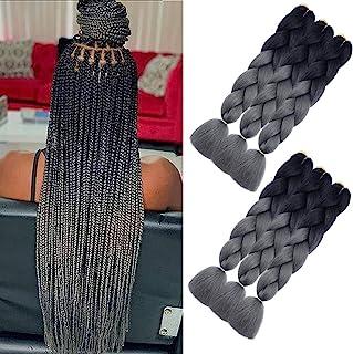 AQINBEL 24 Inch 6PCS/Lot Braiding Hair for Women Ombre Jumbo Braiding Hair Extension..