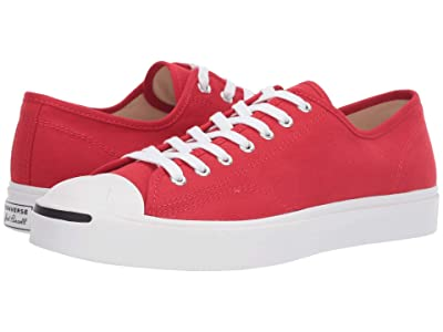 Converse Jack Purcell Twill Ox (Enamel Red/White/Black) Shoes